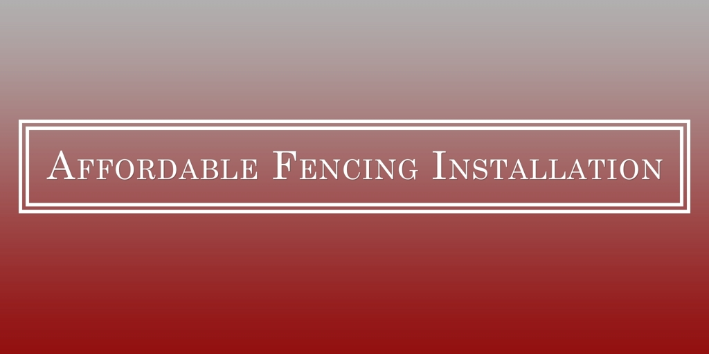 Affordable Fencing Installation Maddington