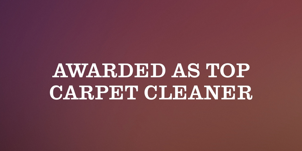 Awarded as Top Carpet Cleaner Rockingham