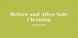 Before and After Sale Cleaning Falls Creek