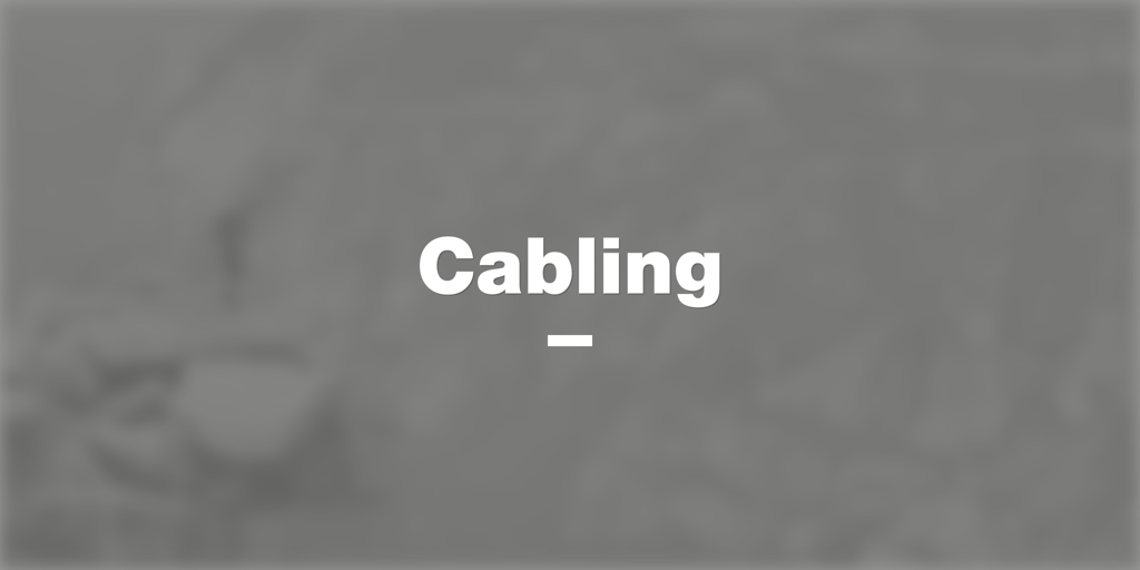 Cabling Strathmore