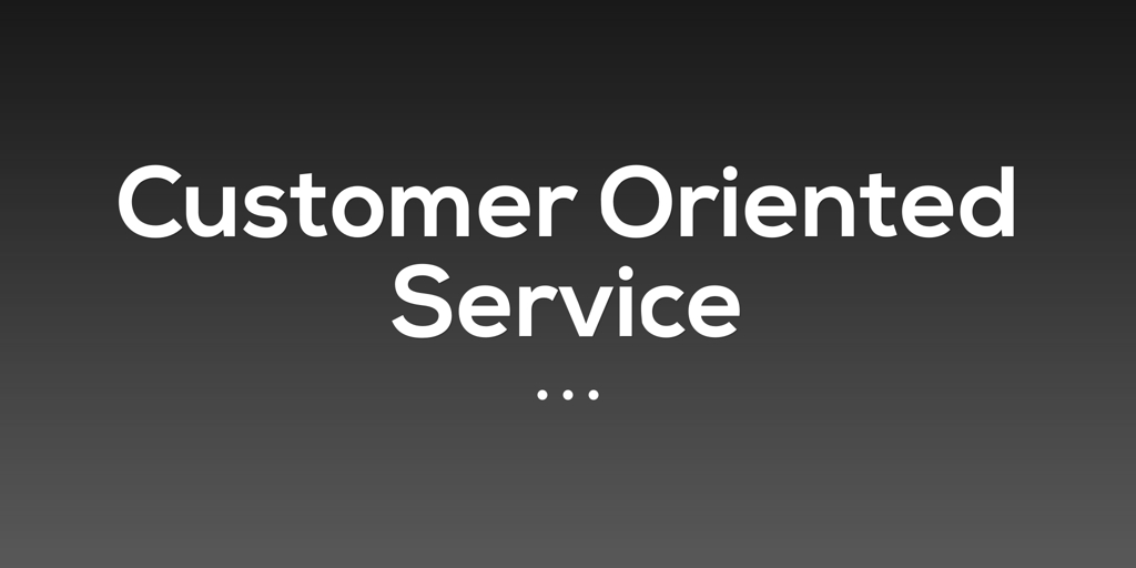 Customer Oriented Service Sorrento