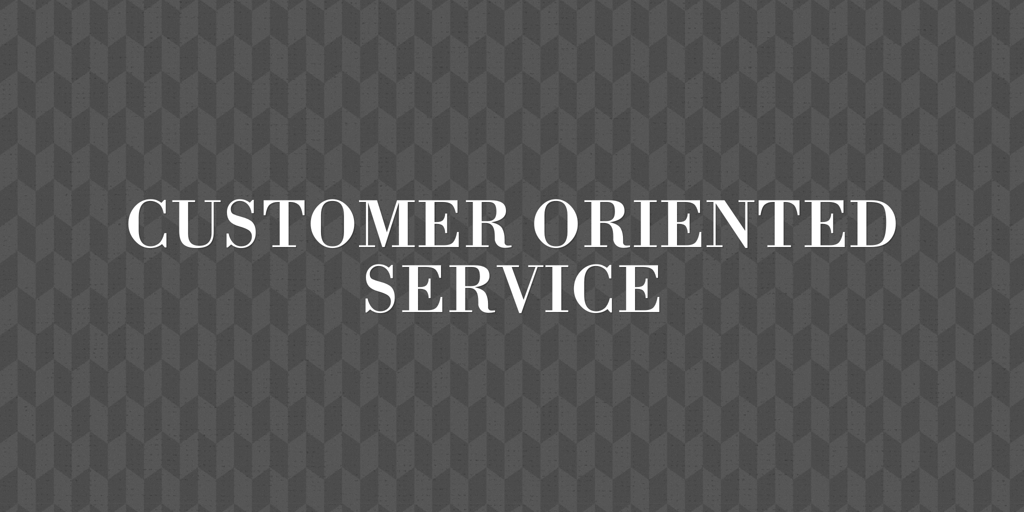 Customer Oriented Service Withcott