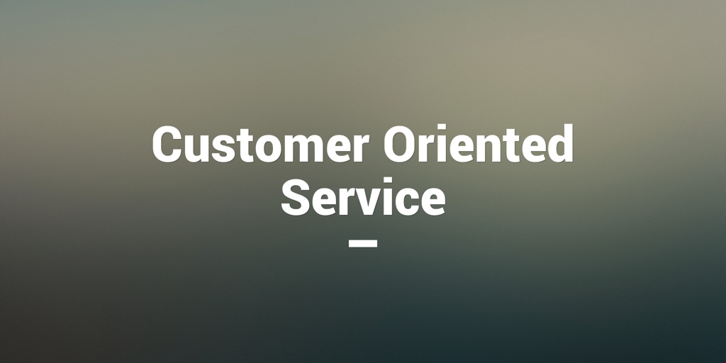 Customer Oriented Service Gordon