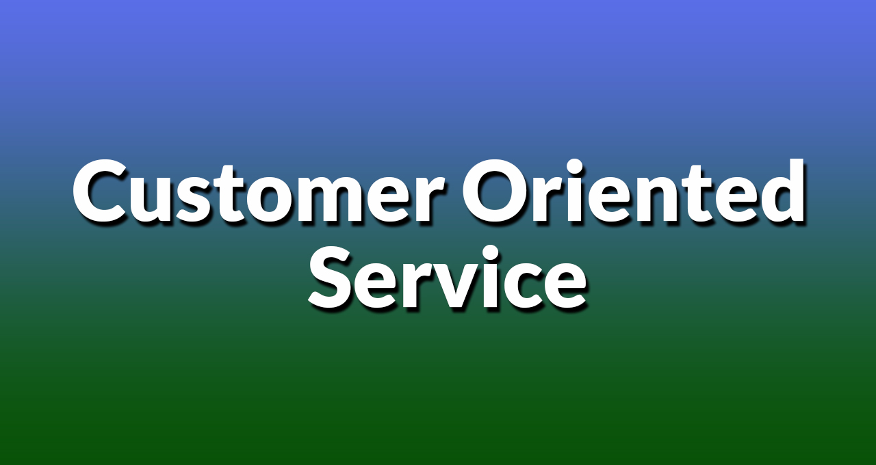 Customer Oriented Service Hamlyn Terrace