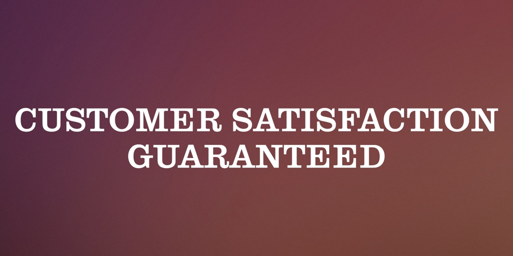 Customer Satisfaction Guaranteed Exmouth