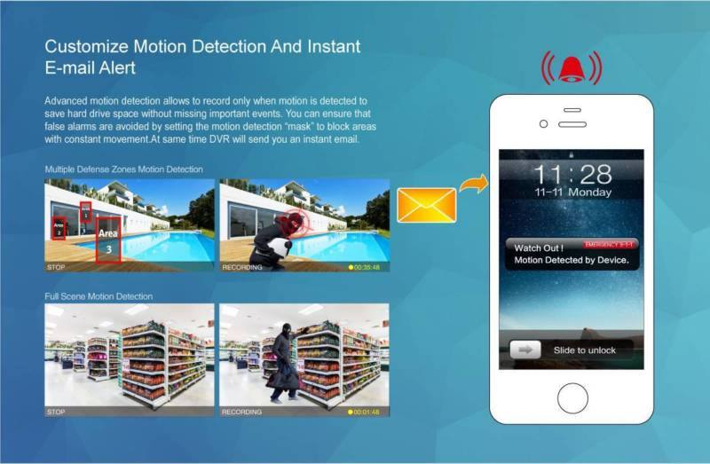 Customize Motion Detection and Instant Email Alert keysborough