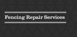 Fencing Repair Services Riverstone Riverstone