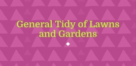 General Tidy of Lawns and Gardens Macquarie Fields