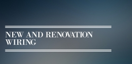 New and Renovation Wiring Macquarie Fields