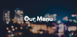 Our Menu Milsons Point