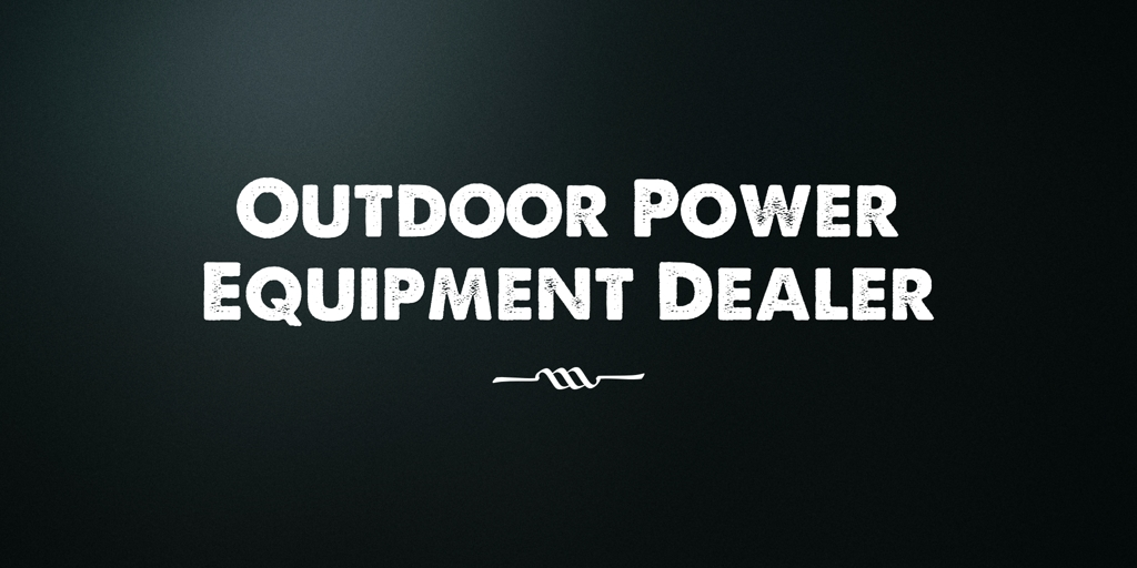 Outdoor Power Equipment Dealer  Yass Power Tool Retailers Yass