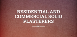 Residential and Commercial Solid Plasterers Punchbowl