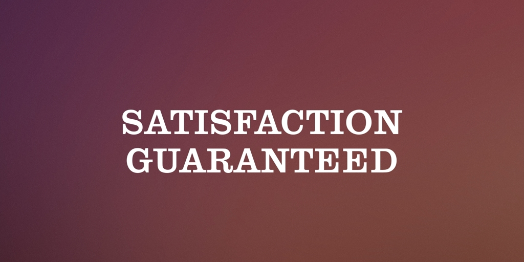 Satisfaction Guaranteed page