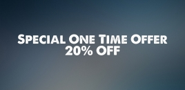 Special One Time Offer 20 Percent Off Edgewater