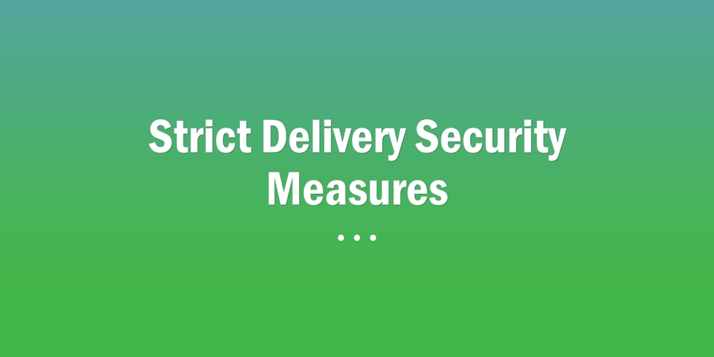 Strict Delivery Security Measures Perth Legal Document Server Perth