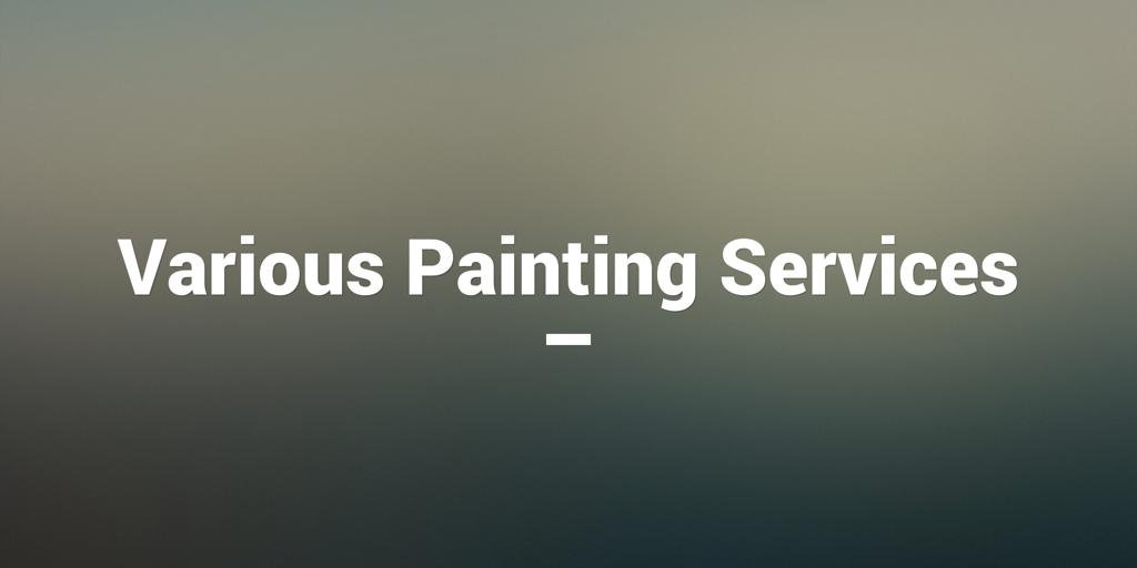 Various Painting Services Darwin City