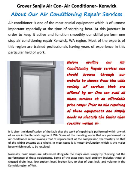 About Our Air Conditioning Business Kenwick