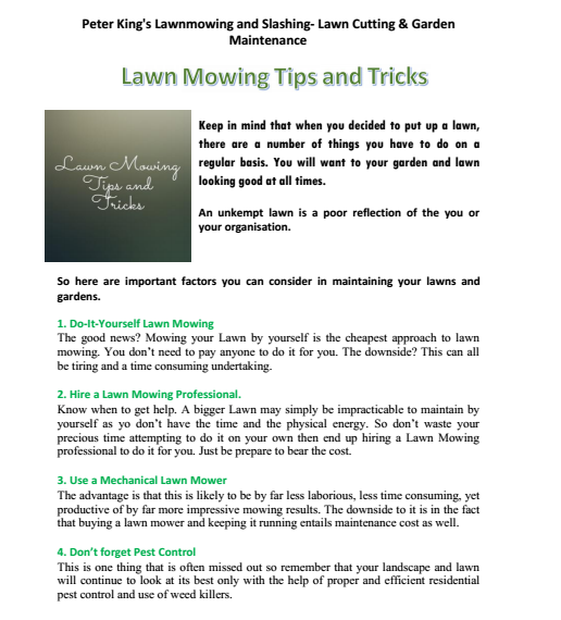 Lawn Mowing Tips and Tricks Inverell
