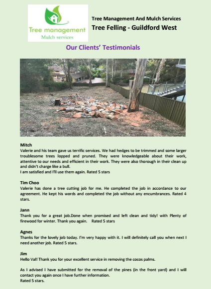 Our Clients Testimonials Guildford West