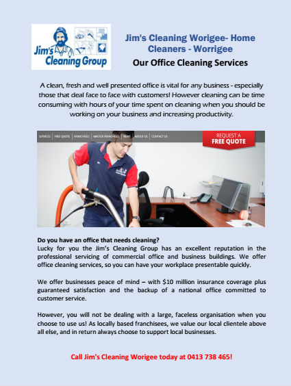 Our Office Cleaning Services Worrigee