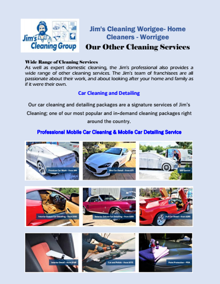 Our Other Cleaning Services Worrigee