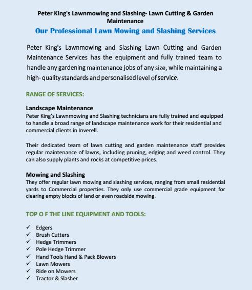 Our Professional Lawn Mowing and Slashing Services Inverell