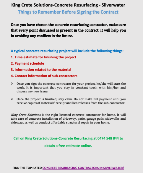 Things To Remember Before Signing a Contract Silverwater